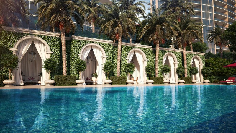 The Estates at Acqualina Miami- cabannas