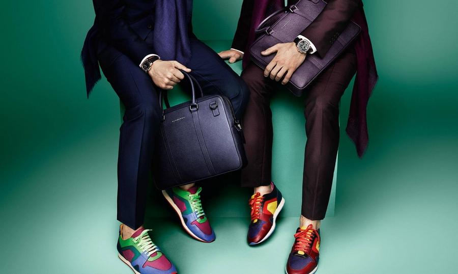 The Field Sneaker and the Crossbody Briefcase in bright block colour new for SS2015