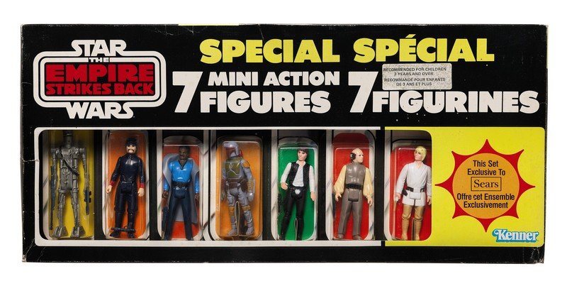The First Auction of Star Wars Collectibles at Sothebys -canadian-star-wars-empire-strikes-back-seven-figure-multi-pack-1980