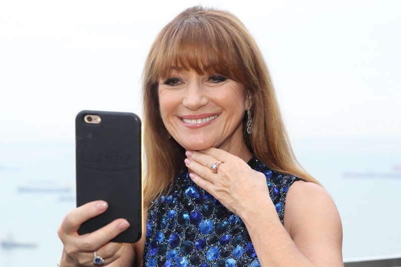 The Jane Seymour blue diamond ring - a beyond rare blue diamond -Ce La Vi welcome dinner - world of diamonds-jane seymour