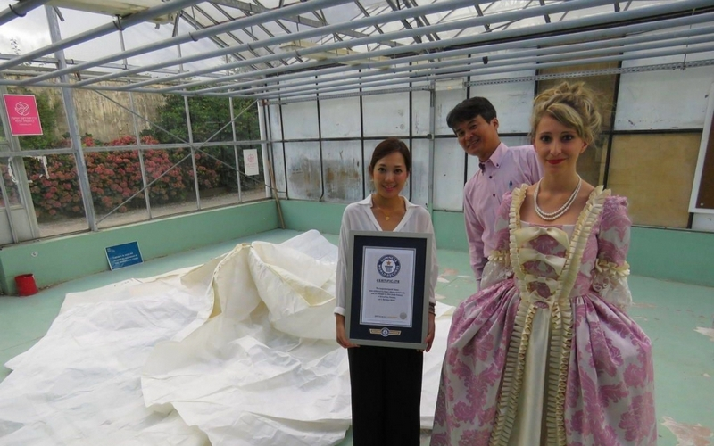 the-largest-origami-flower-blooms-in-the-oldest-kitchen-garden-in-the-world