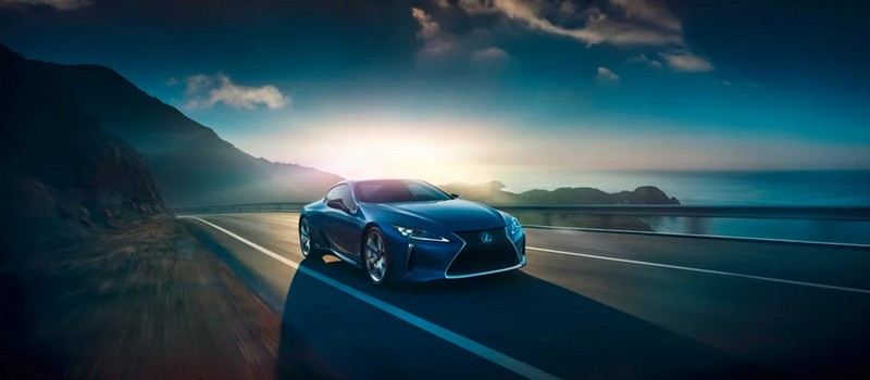 The Lexus LC500h, Lexus hybrid sports coupe