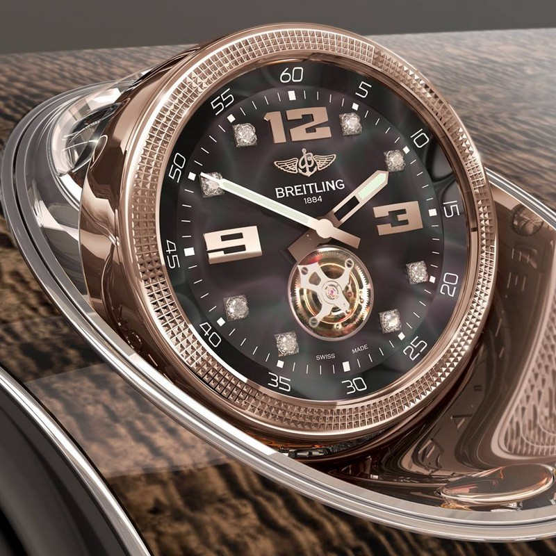 The Mulliner Tourbillon clock by Breitling - Bentley Bentayga 2015 - 2luxury2