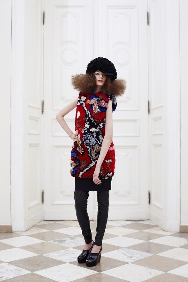 The New Vocabulary of Italian Fashion-triennale-di-milano2016---marios_persian-carpet-dress