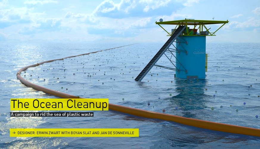 The Ocean Cleanup campaign - The Designs of the Year 2015 nominees @ Design Museum London