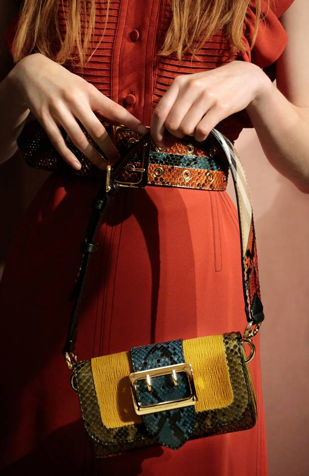 The Patchwork - the new signature bag from the Burberry runway in a mix of colours and textures