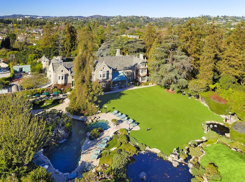 The Playboy Mansion sold-aerial view