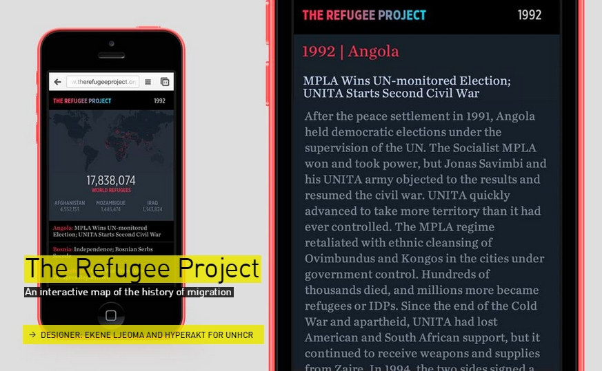 The Refugee Project App- interactive map  - The Designs of the Year 2015 nominees @ Design Museum London