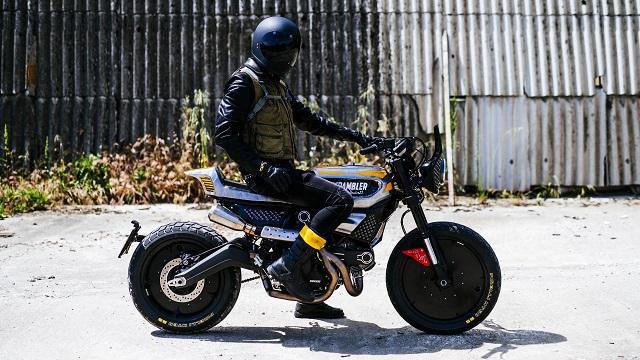 The SC-Rumble by Vibrazioni Art Design Ducati Scrambler bike