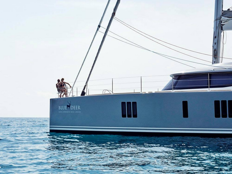 The Sunreef 74 Blue Deer - lateral