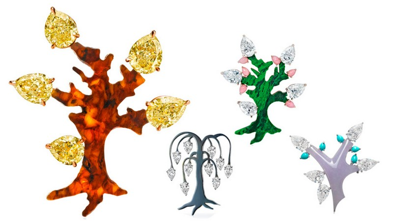 The Tree Brooch Collection