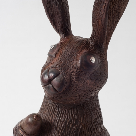 The World's Most Extravagant Chocolate Easter Bunny-closeup
