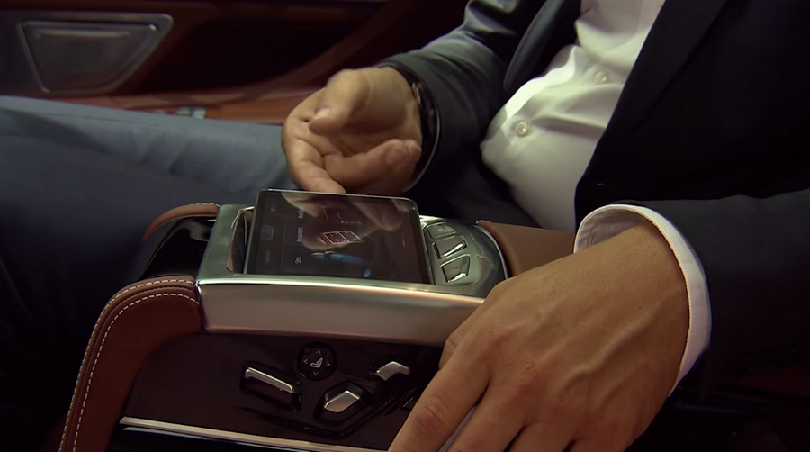 The all new 2016 BMW 7 Series--touchpad