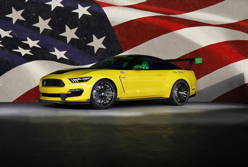 The aviation-inspired Ford Ole Yeller Mustang--