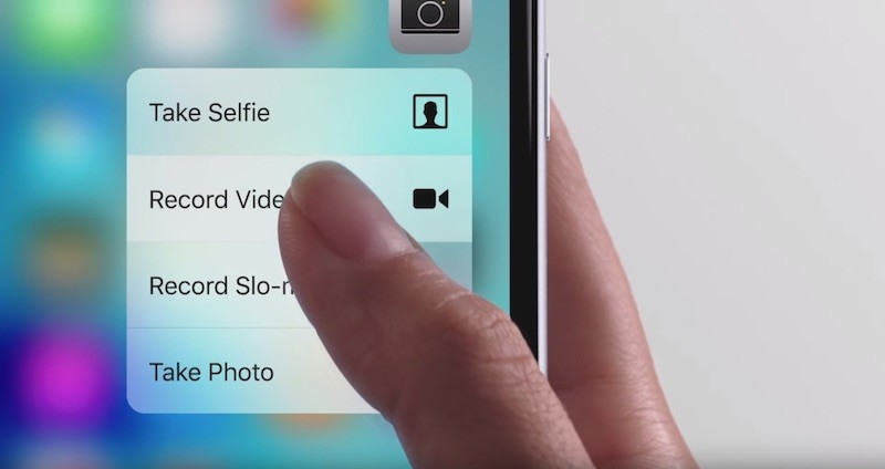 The iPhone 6S 3D Touch-