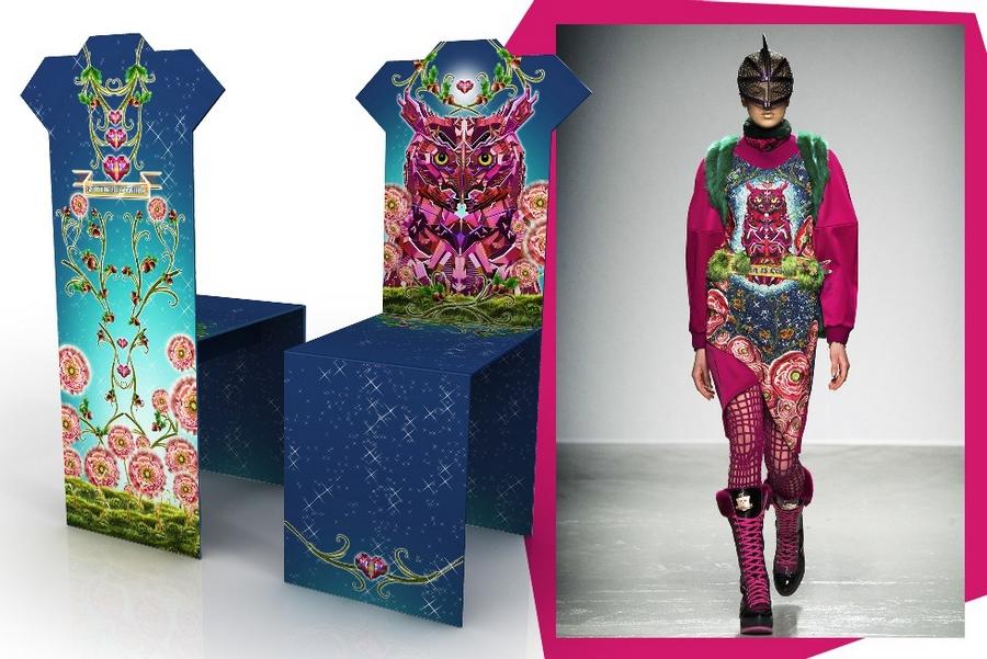 The iconic Salvador chair re-envisioned Manish Arora- Salone del Mobile 2015