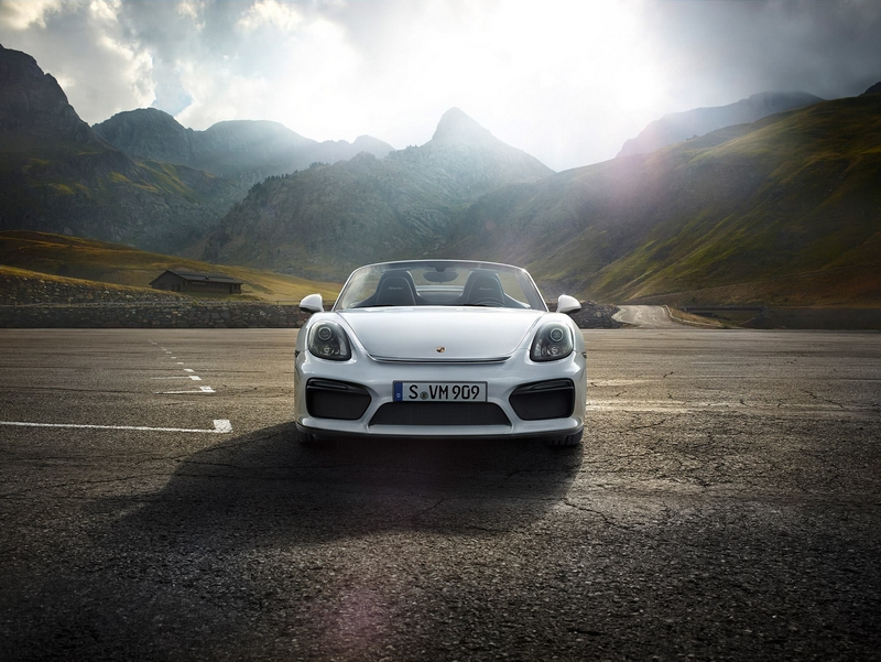 The new Boxster Spyder debuts at 2015 New York International Auto Show