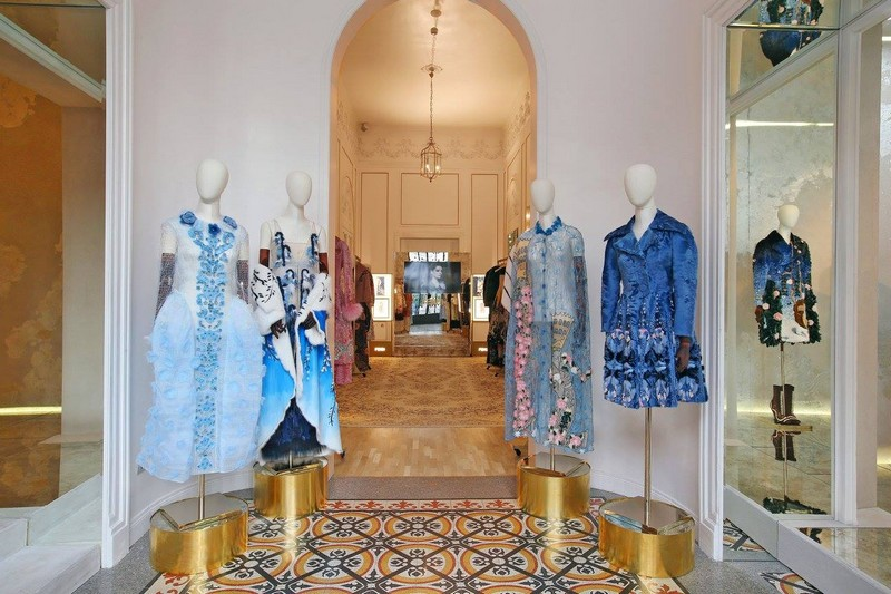 The new Legends and Fairy Tales collection is now on display at the magnificent Palazzo Dama in Rome-