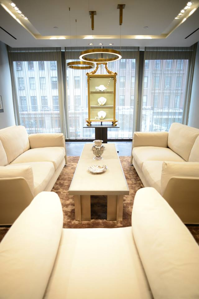 The recently inaugurated Buccellati boutique at 714 Madison Avenue in New York-