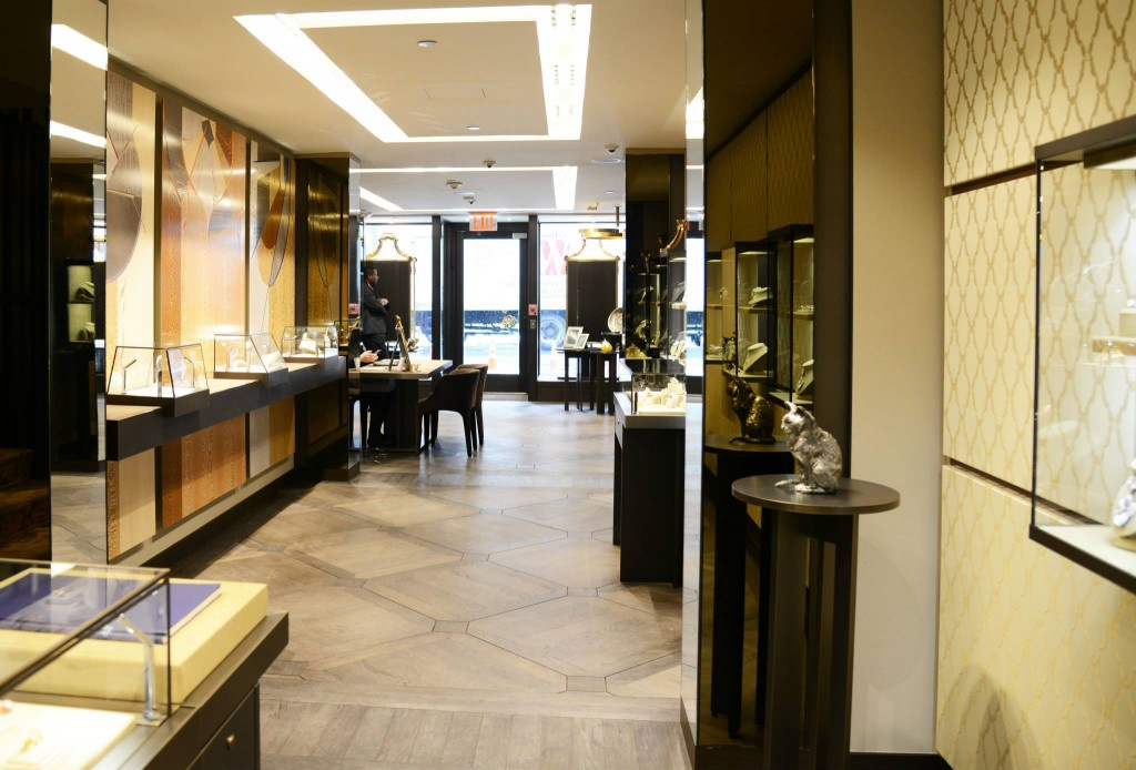 The recently inaugurated Buccellati boutique at 714 Madison Avenue in New York--