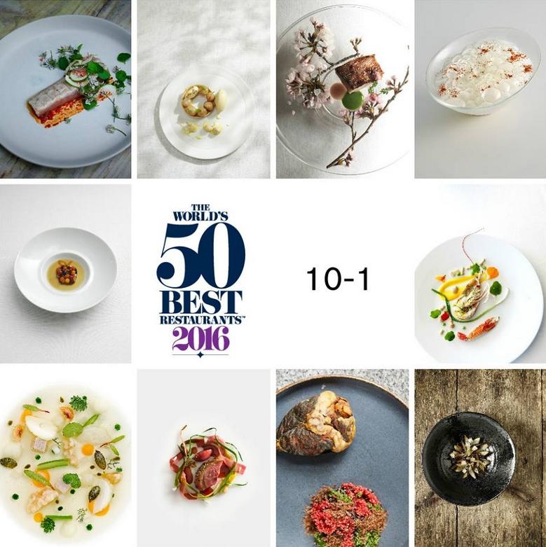The top 10 in The World's 50 Best Restaurants 2016