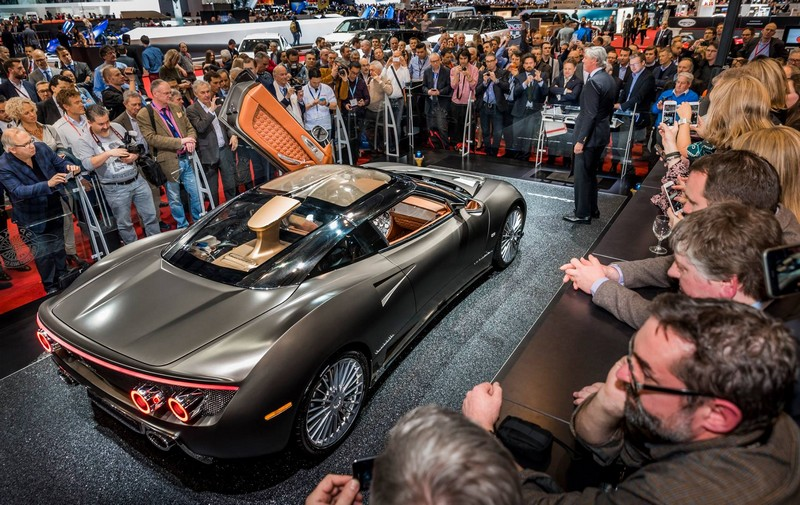 The unveiling of the Spyker C8 Preliator - third-generation sports car from Spyker - 1stMarch2016