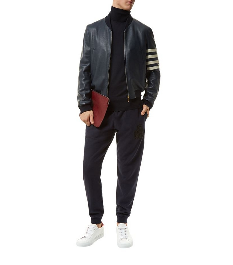 thom-browne-4-arm-stripe-leather-jacket