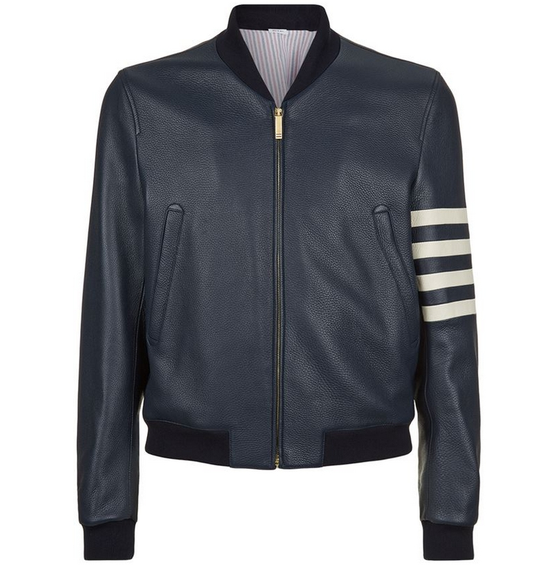 thom-browne-4-arm-stripe-leather-jacket