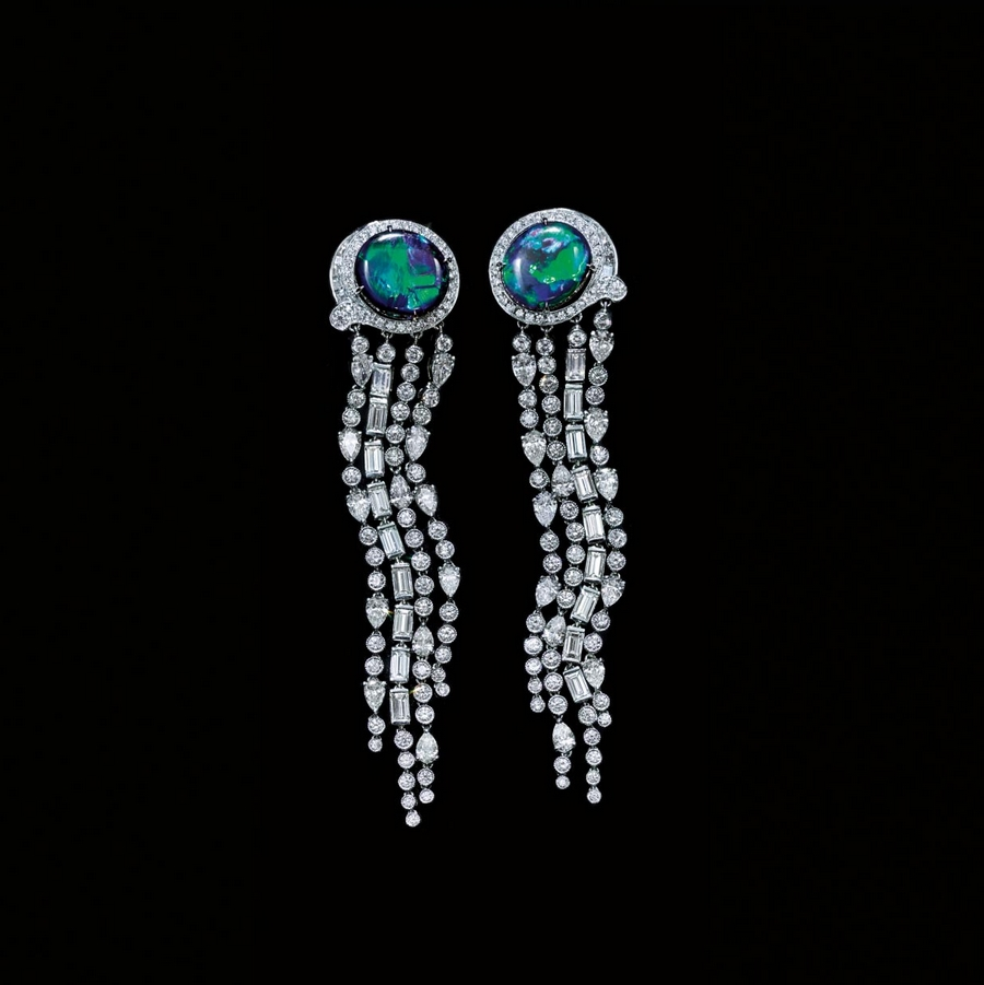 Tiffany 2015 Blue Book - Black Opal Earrings