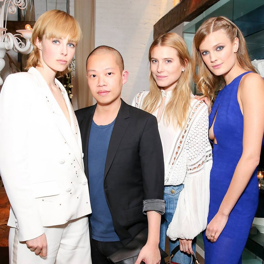 Tiffany 2015 Blue Book Dinner in New York 2015 -Edie Campbell, Jason Wu, Dree Hemingway and Constance Jablonski at the 2015 Blue Book dinner at ABC Kitchen in New York
