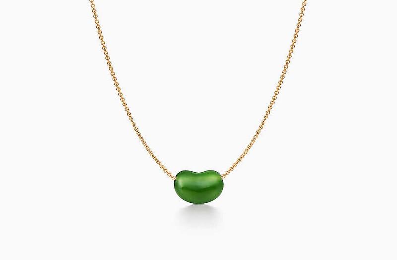 Tiffany x Elsa Peretti Bean - green necklace