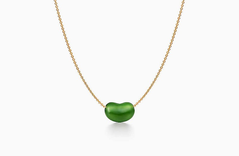 Tiffany x Elsa Peretti Bean - green necklace