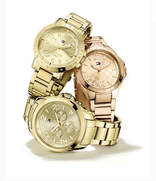Tommy Hilfiger women's gold-plated and rose gold watches
