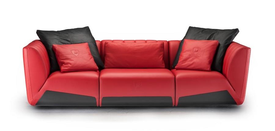 Tonino Lamborghini at iSaloni  - The new three-seater sofa Sepang