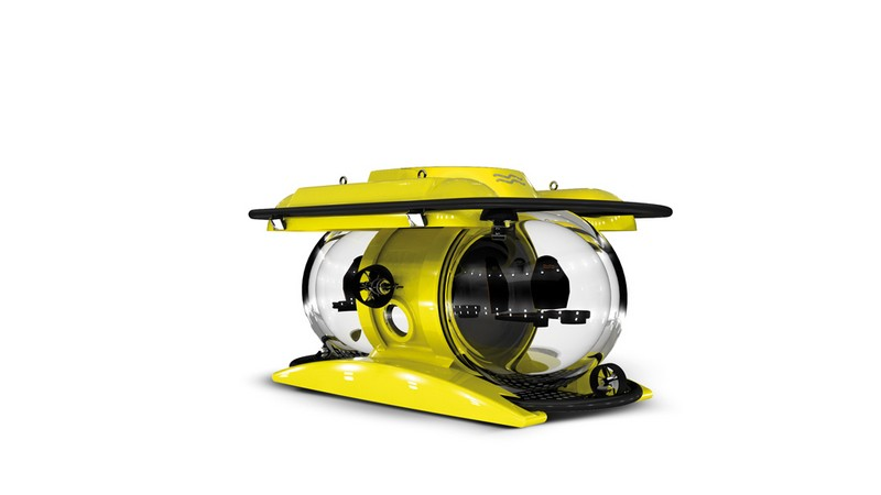 U-Boat Worx Unveiled New Deepest-diving Tourist Submarine - yellow