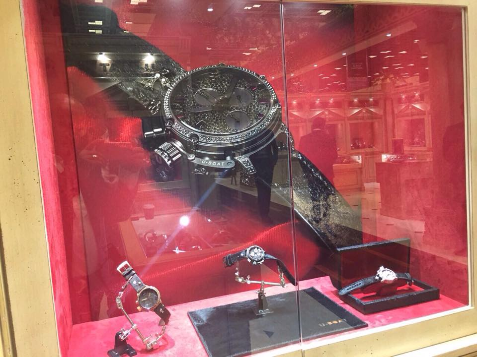 U-Boat watches at  Doha Jewellery and Watches Exhibition 2015-001