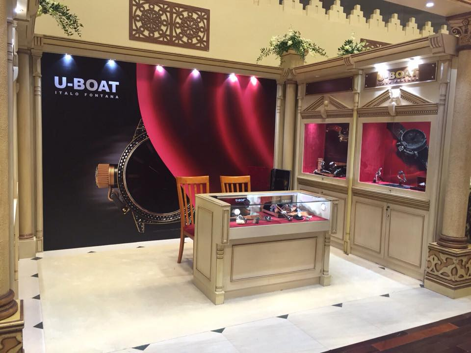 U-Boat watches at  Doha Jewellery and Watches Exhibition 2015