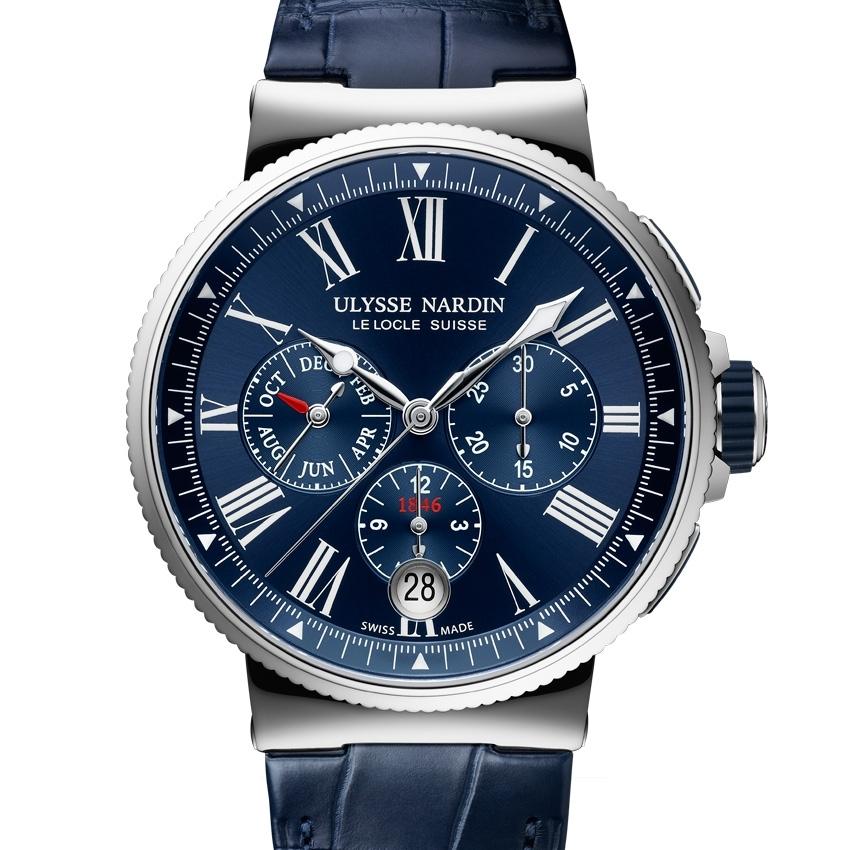 ULYSSE NARDIN Marine Chronograph Annual Calendar watch - Baselworld 2016