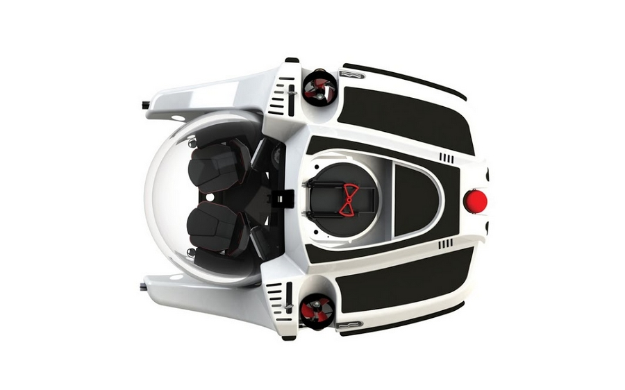 Uboat - Undoubtedly the most compact 3-person submersible ever built