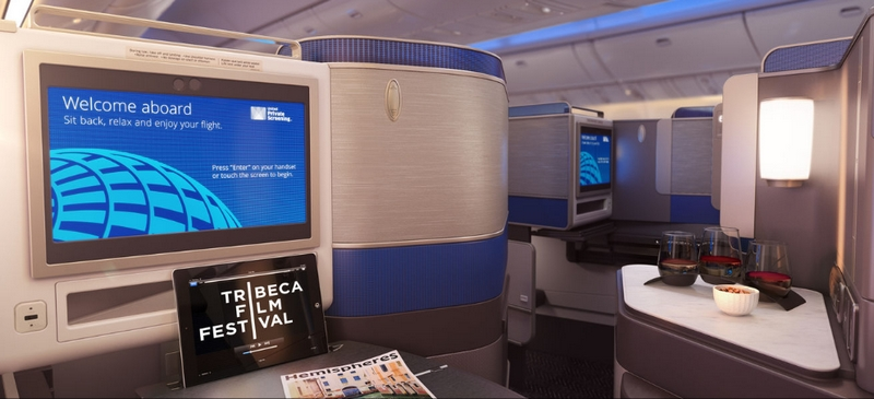 United Airlines' revamped its international business class cabin-comfort reimagined