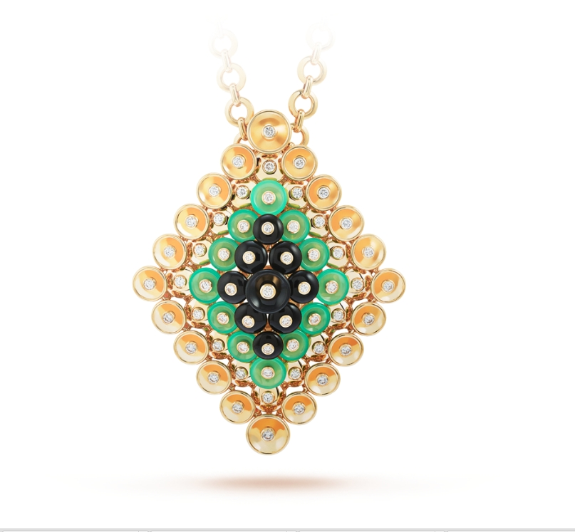 Van Cleef & Arpels Bouton d'or -Bouton d'or pendant and detachable clip