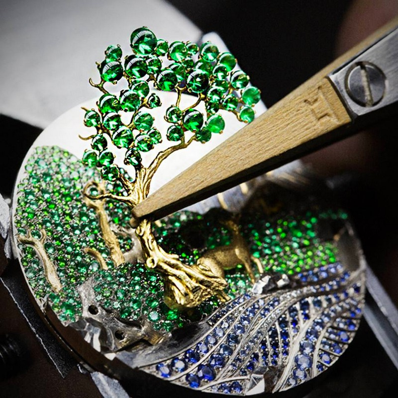 Van Cleef & Arpels Lady Arpels Peau d'Âne Forêt enchantée watch Extraordinary Dials collection-
