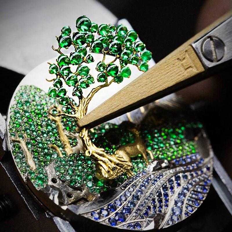 Van Cleef & Arpels Lady Arpels Peau d'Âne Forêt enchantée watch Extraordinary Dials collection-