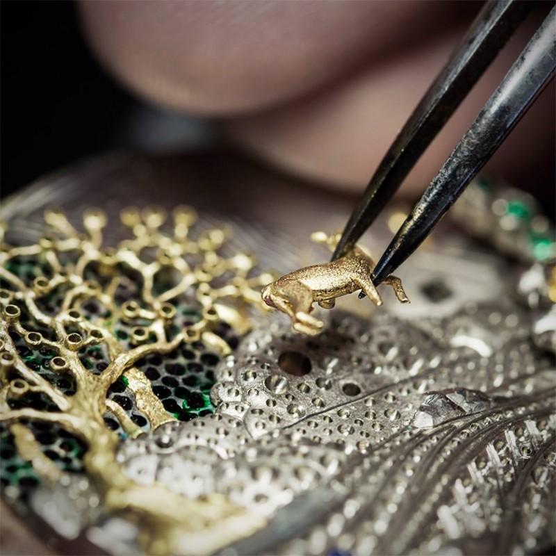 Van Cleef & Arpels Lady Arpels Peau d'Âne Forêt enchantée watch Extraordinary Dials collection--