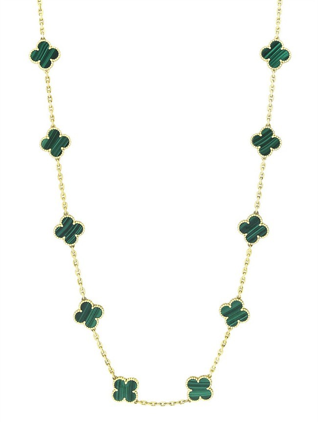 Van-Cleef-Arpels-Midnight-Vintage Alhambra 20-motif long necklace