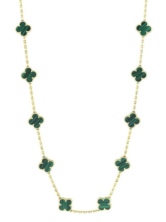 Van-Cleef-Arpels-Midnight-Vintage Alhambra 20-motif long necklace