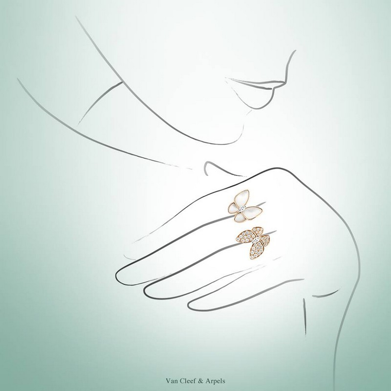 Van Cleef & Arpels Two Butterfly Between the Finger Ring -2016 collection