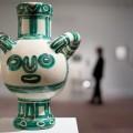 Vase Gros Oiseau Vert Picasso