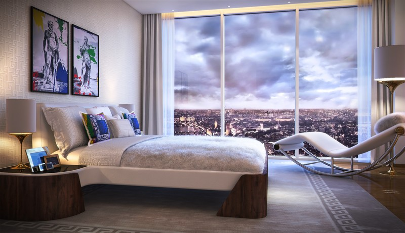 Versace Home for London's Aykon Nine Elms fashion residences project 2020-