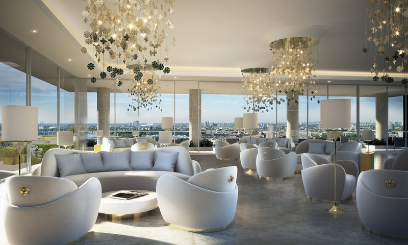 Versace Home for London's Aykon Nine Elms fashion residences project 2020
